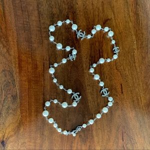 Chanel Classic Pearl Necklace with CC Charms